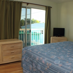 Unit 19 master bedroom has an attached half bath Gulf View Waterfront Resort Marathon Florida Keys