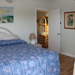 Unit 19 master bedroom with half bath Gulf View Waterfront Resort Marathon Florida Keys