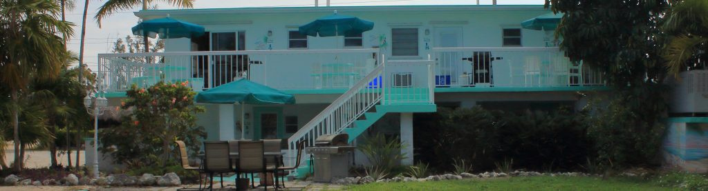The guest building at the Gulf View Waterfront Resort has different 8 units