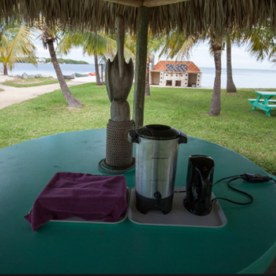 Guests enjoy Free Coffee every morning at the Gulf View Waterfront Resort Marathon Florida