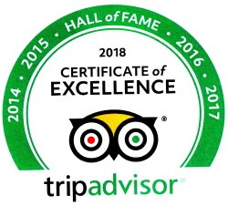 Gulf View Waterfront Resort Trip advisor 2018 certificate of excellence