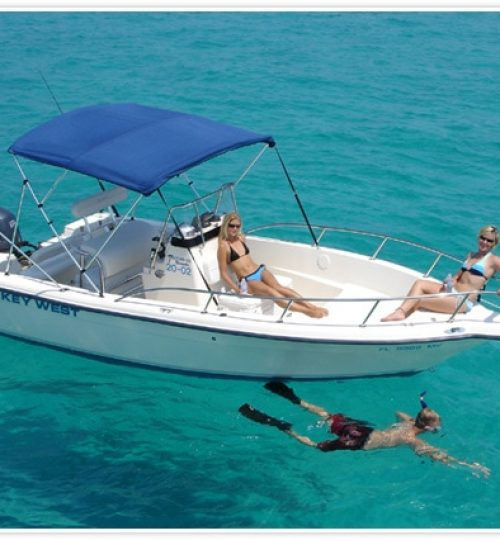 Rent a boat in the Florida Keys